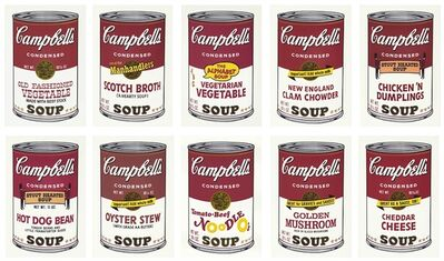 Andy Warhol, 'Andy Warhol 'Campbell's Soup II' (complete set of 10) 1969 Print', 1969