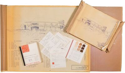 Frank Lloyd Wright Foundation, Taliesin Associated Architects, 'Planning Documents for the Bartlesville Community Center', circa 1979-1980