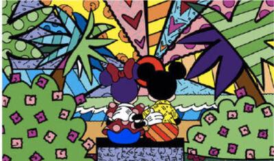 Romero Britto, 'Minnie's New Day'