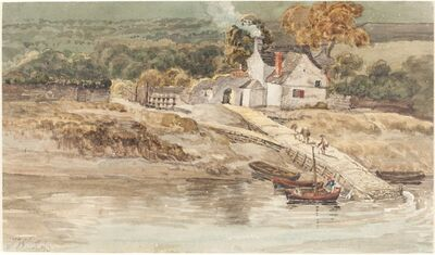 James Ward, 'Landing Place near Tintern Abbey', probably c. 1802