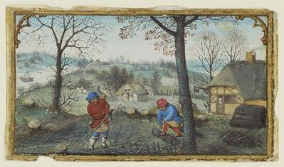 Simon Bening, 'Gathering Twigs', 1550