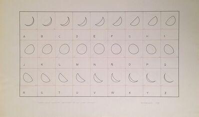 Leandro Katz, 'Twenty seven character progression of lunar alphabet', 1979