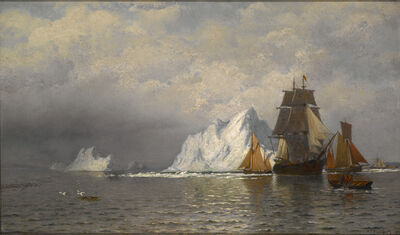 William Bradford, 'Whaler and Fishing Vessels near the Coast of Labrador', ca. 1880