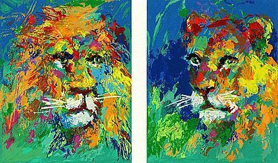 LeRoy Neiman, 'Lion and lioness', 2007