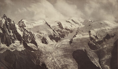 Bisson Frères, 'Une Bourrasque sur le Mont-Blanc (A gust of wind on Mont Blanc)', circa 1860
