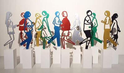 Julian Opie, 'Running People', 2020