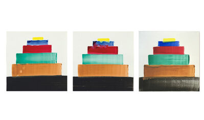 "Martin Creed, 'UNIQUE SET of 3- ""CHICAGO"", No. 1370, SIGNED Painted Album Covers, Edition of 200 each', 2011"