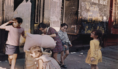 Helen Levitt, 'N.Y. (children playing)', 1972