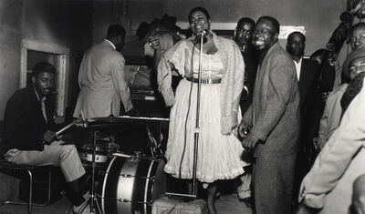 Ernest Withers, 'Big Maybelle with Rufus Thomas (to her left), 1950's', printed later
