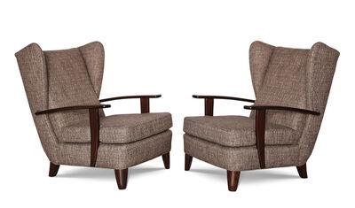 Gio Ponti, 'Rare pair of Early Lounge Chairs', ca. 1929