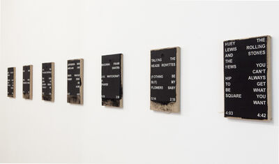 Nicolas Jasmin, 'Track List Paintings: For an Investment Banker,'