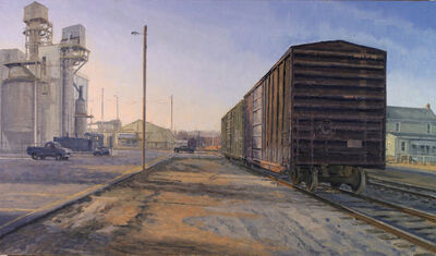 Henry Coe, 'Box Cars and Pulp Mill', 2011