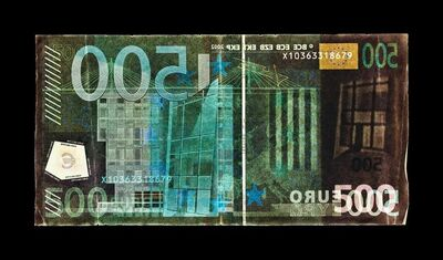 David LaChapelle, 'Negative Currency: Five Hundred Euro Used as Negative', 2018