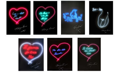 Tracey Emin, 'Set of Seven Neon Prints', 2015
