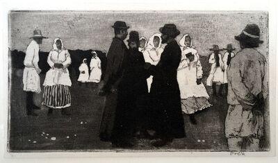 Emil Orlik, 'Market in Grodek', 1898