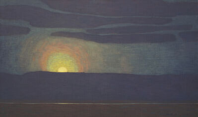 David Grossmann, 'Rising Moon with Halo', 2020
