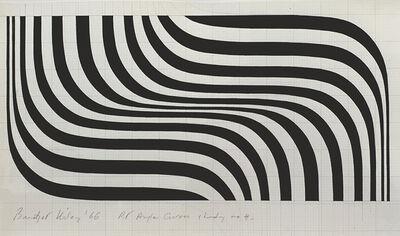 Bridget Riley, 'Right Angle Curves Study No.4', 1966
