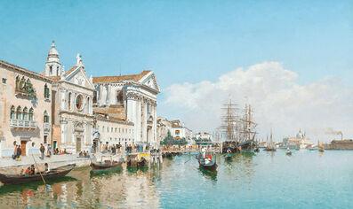 Federico del Campo, 'La Chiesa Gesuati from the Canale della Giudecca, Venice', 1899