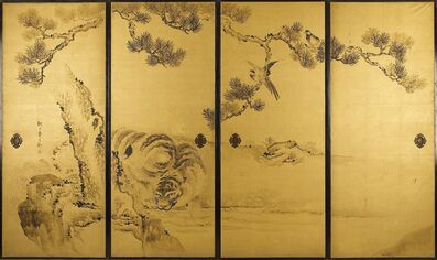 Kishi Ganku, 'Fusuma: Tigers and Dragon', 1813-1838