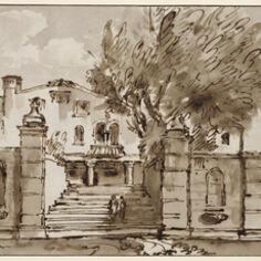 Giambattista Tiepolo, 'View of a Villa', 1757-1759