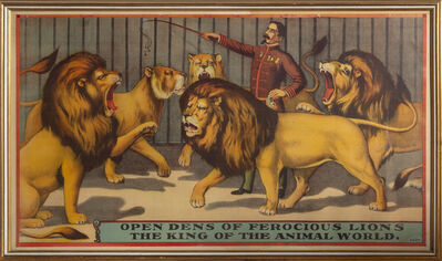 Unknown, 'Open Dens of Ferocious Lions, the King of the Animal World', ca. 1900