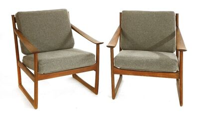Peter Hvidt, 'A pair of teak 'FD130' armchairs'