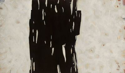 Helen Bellaver, 'Black and Cream No. 1 - Large Black and White Abstract Expressionist Painting ', 2018