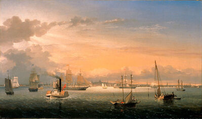 Fitz Henry Lane, 'Boston Harbor', 1854