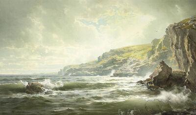William Trost Richards, 'Crashing Waves', 1890
