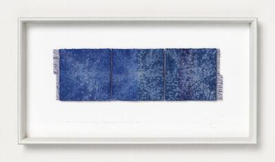 Chiyoko Tanaka, 'Grinded Fabric - Three Squares. Blue #155', 2009