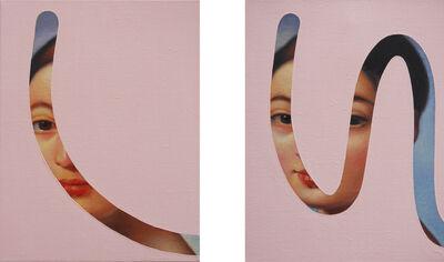 Lino Lago, 'Pair of Fake abstract Pink on Ingres', 2019
