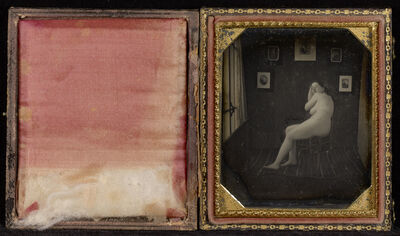 Unknown Artist, 'Nude Woman in Photographer's Studio', ca. 1850
