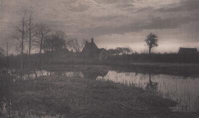 Peter Henry Emerson, 'Evening', Neg. date: 1885 c. / Print date: 1885 c.