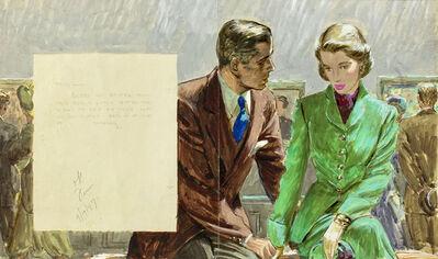 Edwin Georgi, 'Couple at Museum', 1947