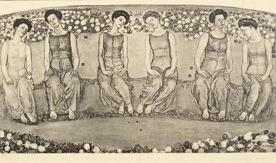 Ferdinand Hodler, 'Die Heilige Stunde mit sechs Figuren', 1911