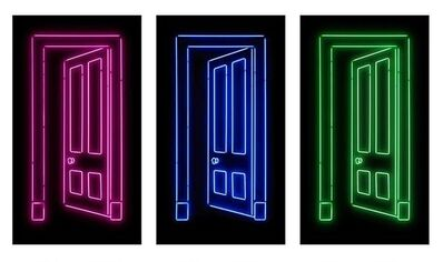 Gavin Turk, 'Doors (Pink, Blue and Green) - complete set with matching numbers', 2012