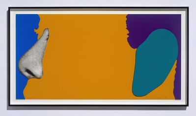 John Baldessari, 'Noses & Ears, Etc.: Face with Nose and (Green) Ear', 2006