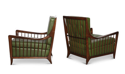 Paolo Buffa, 'Rare Pair of Open Arm Lounge Chairs', ca. 1952