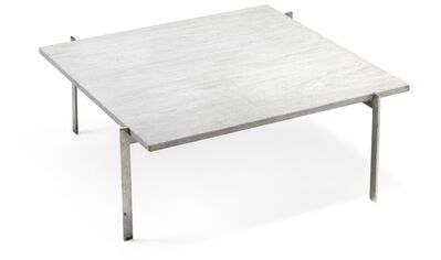 Poul Kjærholm, 'PK 61. Very early coffee table with matte chromed steel frame. Square Cippolini marble top.'