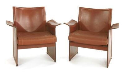 Tito Agnoli, 'A pair of Korium armchairs'