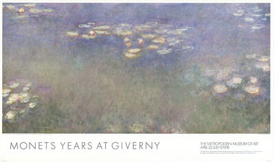 Claude Monet, 'Water Lilies (Nympheas)', 1997