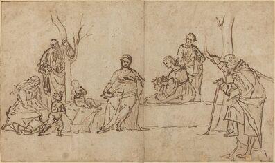 Vittore Carpaccio, 'The Madonna and Child with Saints in a Landscape (Sacra Conversazione)', ca. 1500