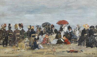 Eugène Boudin, 'Trouville, Scène de Plage', 1884