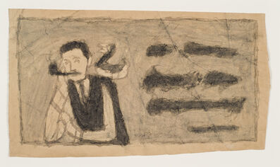 James Castle, 'Untitled (Man with pipe and duck)', n.d.