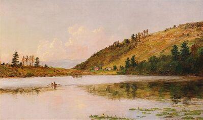 Jasper Francis Cropsey, 'Boating on Greenwood Lake', 1890