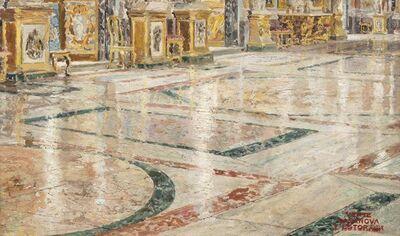 Antonio Casanova Y Estorach, 'Rome, grande salle de bal du palais Colonna', painted circa 1872.