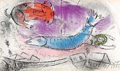 Marc Chagall, 'The Blue Fish (Jacques Lassaigne, M.198)', 1957