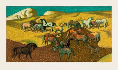 millard Sheets, 'Brood Mare Pasture', c. 1977