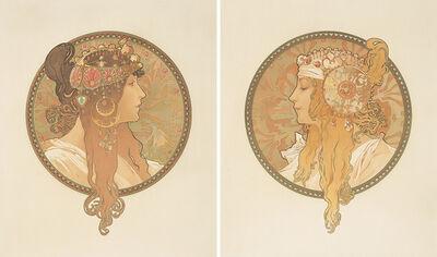Alphonse Mucha, 'Byzantine Heads.', 1897