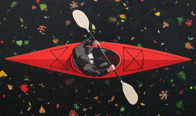 Kendall Stallings, 'Kayaker with Leaves', 2017